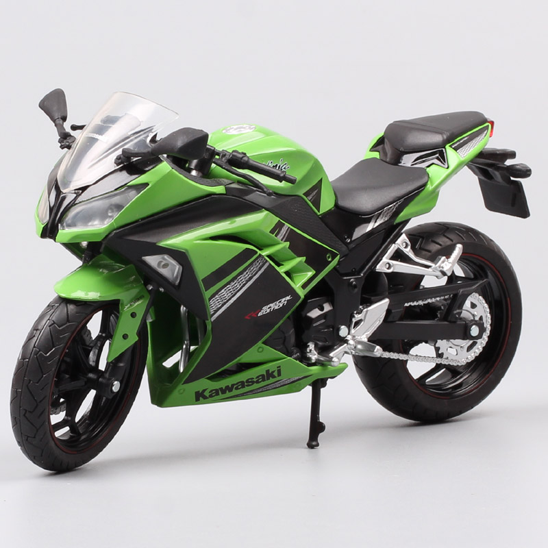 1/12 Automaxx 2013 Kawasaki Ninja 250R SE 300 Race Scale Motorcycle Toy Sports Bike Diecasts & Toy Vehicles Models Toys Replicas