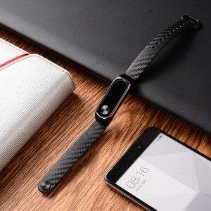 Image 4 - Ollivan correa de silicona de fibra de carbono para Xiaomi Mi Band 2, accesorios para pulsera inteligente Mi Band 2