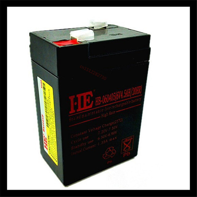 Storage Batteries 6v 4 5ah 20hr Maintenance Free Storage Battery