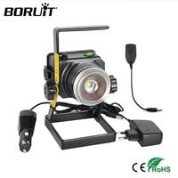 BORUiT XML T6 LED Outdoor Floodlight 1000LM USB Rechargeable Camping Spotlight Garden Wall Spotlight IPX4 Zoom Projector Lamp
