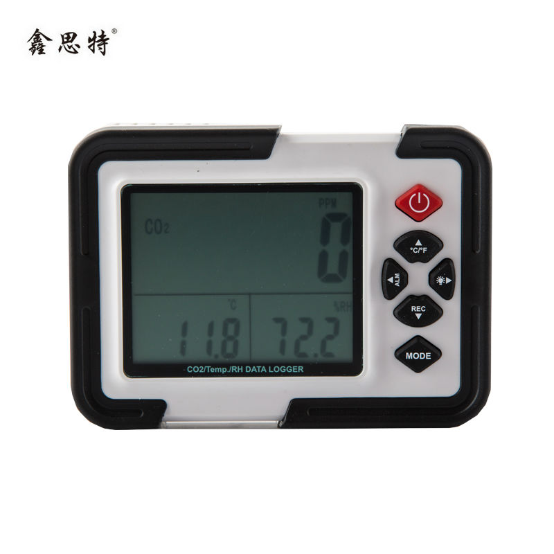 co2 meter co2 monitor detector gas analyzer indoor air quality monitor HT-2000 3in1 Temperature Relative Humidity co2 detector digital indoor air quality carbon dioxide meter temperature rh humidity twa stel display 99 points made in taiwan co2 monitor