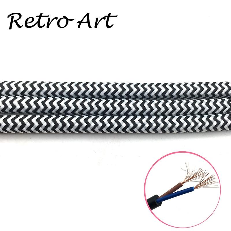 Aliexpress.com : Buy ROUND 2 Core Golden Vintage Braided Wire ...