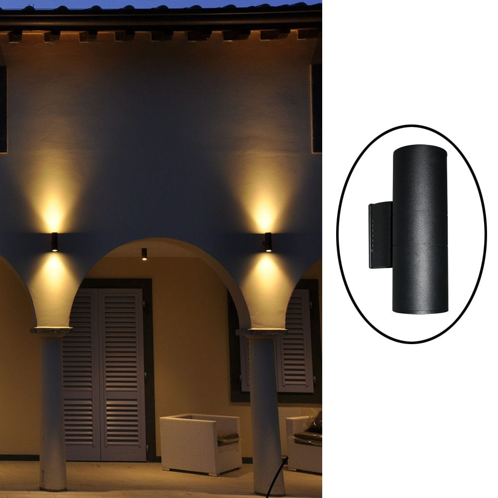 Us 28 55 up down contemporary outdoor wall lamp bridgelux 6w 10w 14w 20w 30w cob led wall light ip65 exterior lighting ac85 265v input in outdoor
