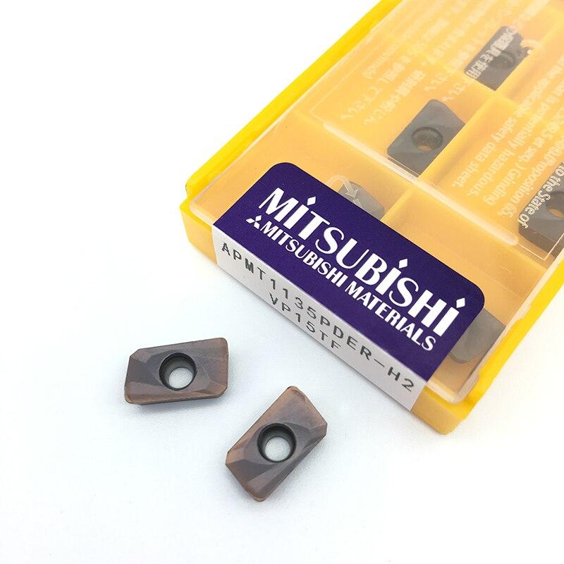 10PCS APMT1135PDER H2 VP15TF APMT 1135 Carbide insert for bar300r shoulder Milling cutter cnc tool face milling profile milling