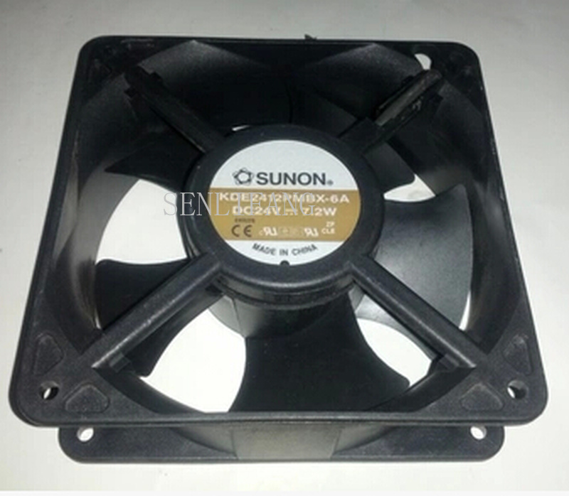 Free Shipping For SUNON KDE2412PMBX-6A DC 24V 7.2W 120x120x38mm Server Square Fan