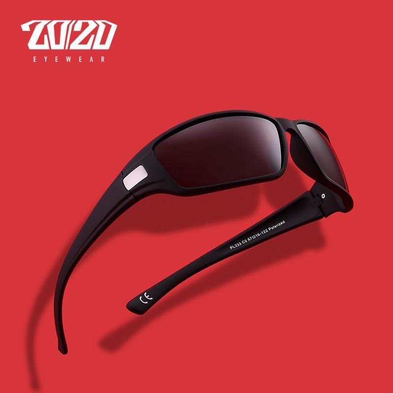 20 20 Merek Desain Terpolarisasi Kacamata Pria Keren Vintage Pria Berjemur  Kacamata Warna Eyewear Gafas Oculos PL333 di Kacamata Hitam dari Aksesoris  ... 74a6eb3c01