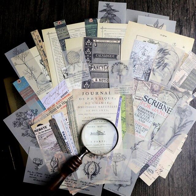 50 шт старые газетные страницы винтажные наклейки для скрапбукинга счастливый планировщик/изготовление карт/Журнал проект A