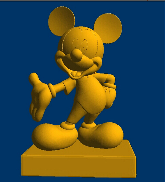 3D Model STL CNC Computer Carving Relief  Sculpture Mickey Mouse