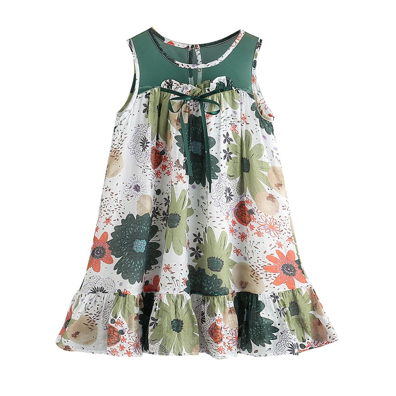 890a51761d1d Princess Girls Dress For Teenage Clothing Summer 2018 Cute Mesh Stitching  Floral Dresses Teen Sundress Clothes