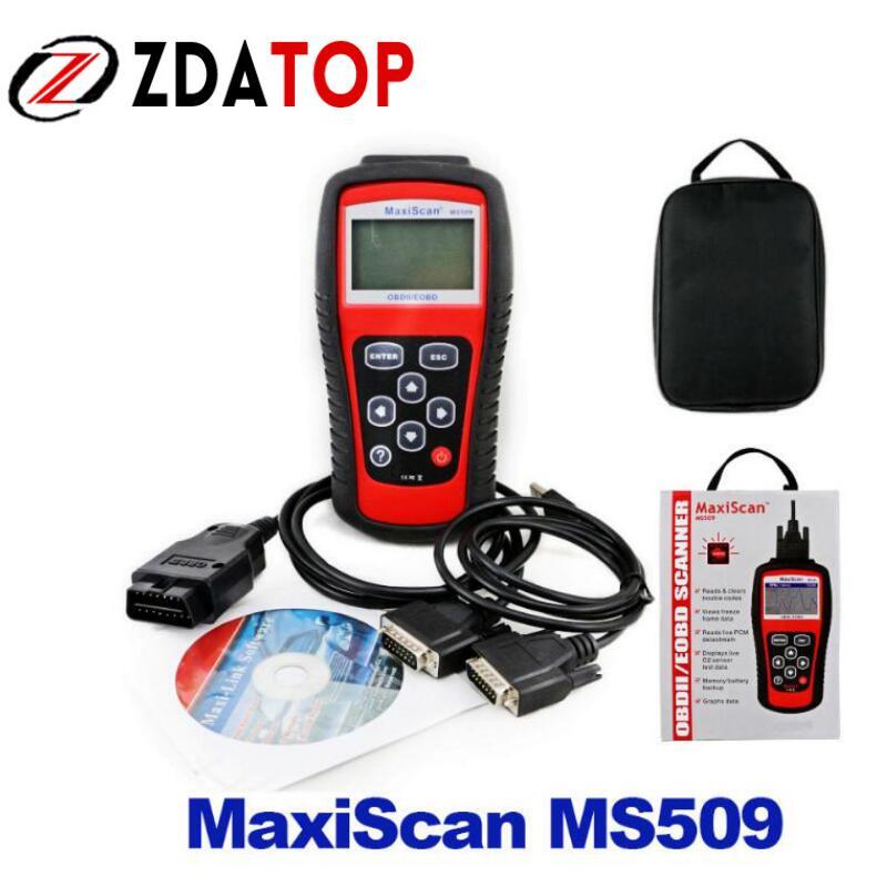 Цена за Zolizda MaxiScan MS509 по Заводской Цене OBDII/EOBD CAN сканер инструмент MS509 Авто Code Reader работать для нас и азиатских и Европейский автомобиль Бесплатная доставка