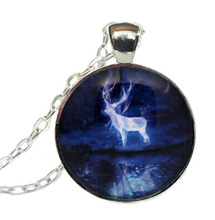 2017 New Hot Potter Patronus Pendant Expecto Patronum Necklace Glass Dome Jewelry Harry's Pendants Link Chain Gifts MenHZ1