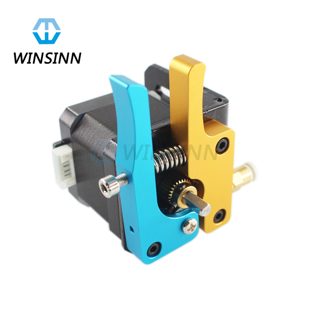 WINSINN 3D Printer Upgrade Bowden MK8 TEVO Extruder Hotend Kit Driver Feeder For 1.75mm Nozzle Filament Anet A8 RepRap Prusa i3 3d printer accessory aluminium alloy for reprap bowden extruder parts for1 75mm filament 0 4mm nozzle