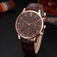New Fashion Woman hsome practical classical wise Mens Retro Design Leather Band Analog Alloy Quartz Wrist Watch  P*21