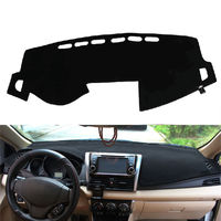 BBQ FUKA Dashboard Cover Dashmat Sun Shade Dash Board Mat Pad Carpet Fit For Toyota Yaris
