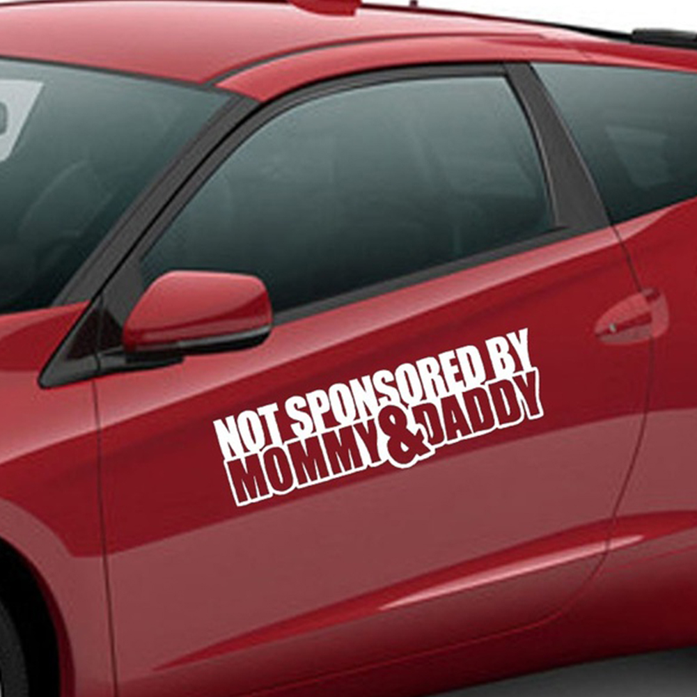 Not Sponsored By mommy/Daddy Car Sticker Funny Sticker Car Window Styling For Cars Funny JDM Drift lowered car window