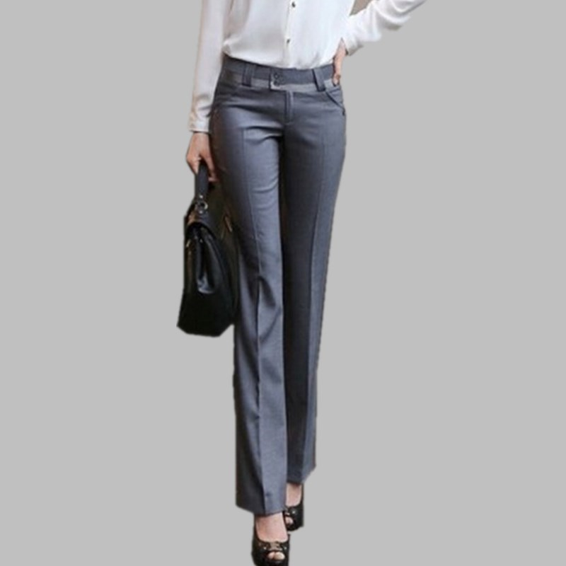 66619cc1f3b New 2017 Women Spring Autumn Pants Slim Ol Plus Size Casual Pants Female  Suit Western-style Trousers Office Formal Pants Womens