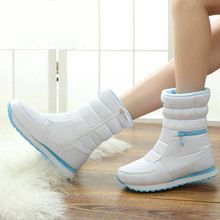 white winter boots women fashion snow boots new style 2018 women's shoes Brand shoes high quality  shoes woman