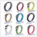 10pcs/ lot Interchangeable Jewelry New PU Leather Charm Bracelets Fit Snaps Snap Buttons bracelet 21cm Free Shipping
