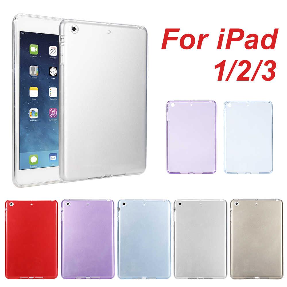 الجملة لأبل اي باد البسيطة 1 2 3 4 حالة Tpu لينة الغطاء الخلفي حافظة لجهاز iPad البسيطة 4 3 2 1 رقيقة جدا شفافة السيليكون حالة