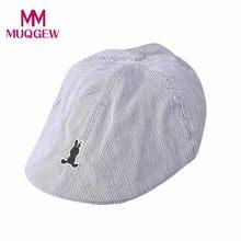 e0eb9396a4160 (配送元 US) MUQGEW キッズベビー愛らしい帽子 2018 夏の少年綿ストライプベレーキャップキャスケットキャップキャスケット野球帽子 5/4