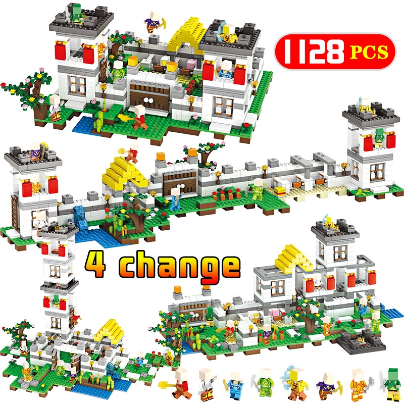Blocks Candid My World Classic Forest Manor Building Blocks Compatible Legoingly Minecrafted City Figures Bricks Sets Kids Toys Gifts 1128pcs Delaying Senility