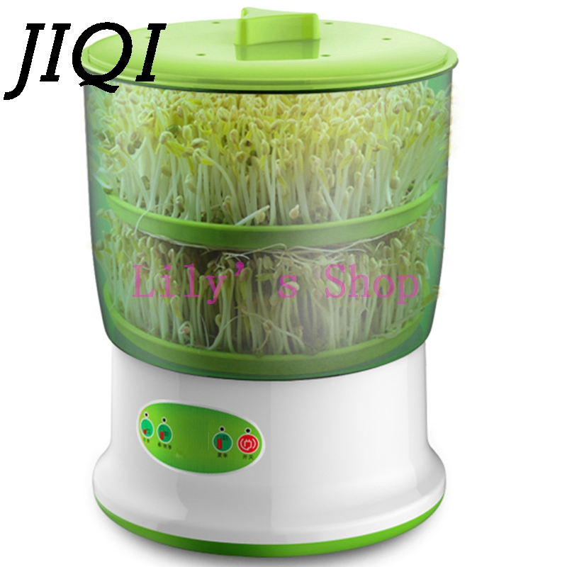 JIQI Intelligent Bean Sprouts Maker household Upgrade Large Capacity Thermostat Green Seeds Growing Automatic Sprout Machine EU bear three layers of bean sprouts machine intelligent bean sprout tooth machine dyj b03t1