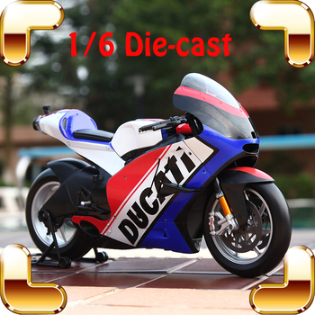 Christmas Gift DCT 1/6 Super Big Model Motorcycle Alloy Oil Tank Metal Vehicle Car Motorbike Toys Collection Large Diecast Scale