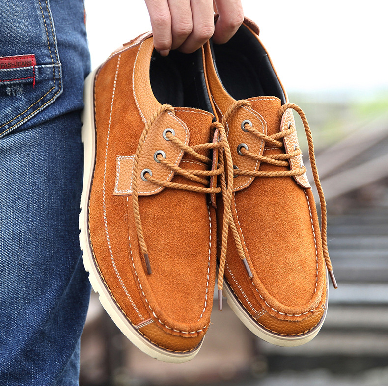 New Brand Cow Suede Men Shoes Genuine Leather Casual Shoes Breathable Comfortable Men Oxfords Shoes Fashion Men Flats 2.5A dxkzmcm new men flats cow genuine leather slip on casual shoes men loafers moccasins sapatos men oxfords