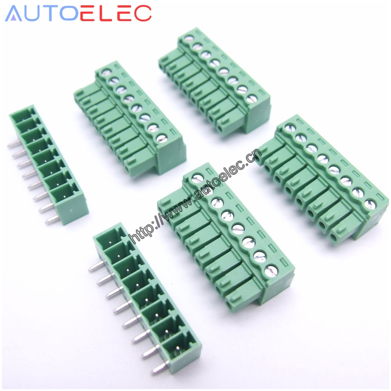 Phoenix Plug 3.81mm // Pluggable Connector Terminal Block Set of 10 // 8 pin
