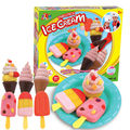 Cor argila plasticina Playdough 3D terno pai-filho brinquedos interativos de sorvete conjunto molde brinquedo inteligente SZJUYI