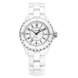 Nowe mody prosta ceramiczna biel zegarek kobiety Casual zegarki biznesowe gimnazjum trend studencki zegarek kwarcowy Reloj Mujer w Zegarki damskie od Zegarki na