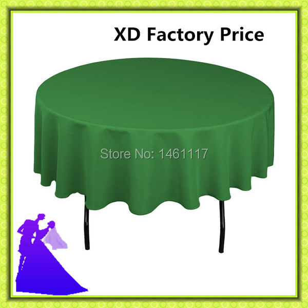 Factory Price !! 100% polyester round table cloth in restaurant / wedding decoration for ...