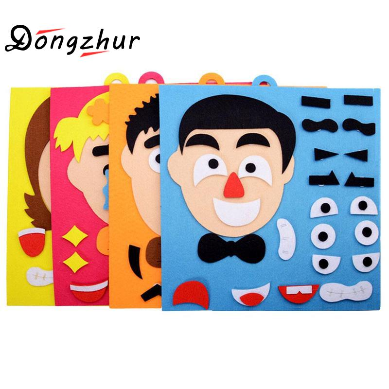 DIY Toys Emotion Change Puzzle Toys Creative Facial Expression Kids Toys For Children Educational Learning Set 30CM*30CM