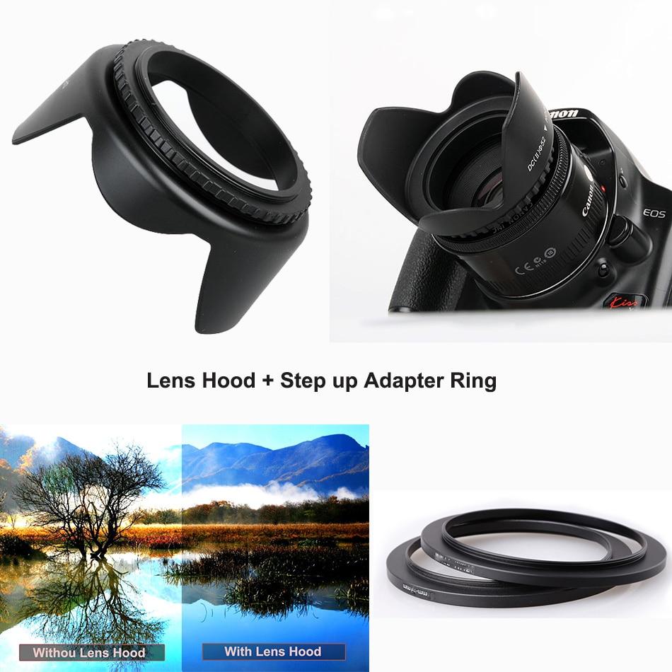 CADEN 40.5mm Tulipe Fleur Lens Hood pour Sony Alpha A6500 A6300 A6000 A5100 A5000 NEX-6 NEX-5T NEX-5N NEX-3N NEX-5R w/E 16-50mm