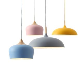 Image 1 - Lampe suspendue au design nordique, ampoules E27, idéal pour un Restaurant, un café, un Bar ou un macaron