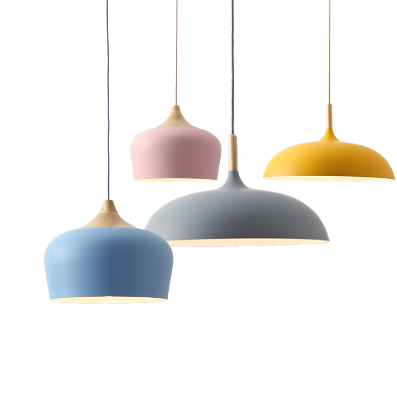 Nordic Pendant Light Fixtures Restaurant E27 Pendant Lamps Cafe Bar Macarons  Lighting Hanging Lamps