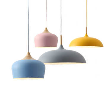 Nordic Pendant Light Fixtures Restaurant E27 Pendant Lamps Cafe Bar Macarons  Lighting Hanging Lamps - DISCOUNT ITEM  45% OFF All Category