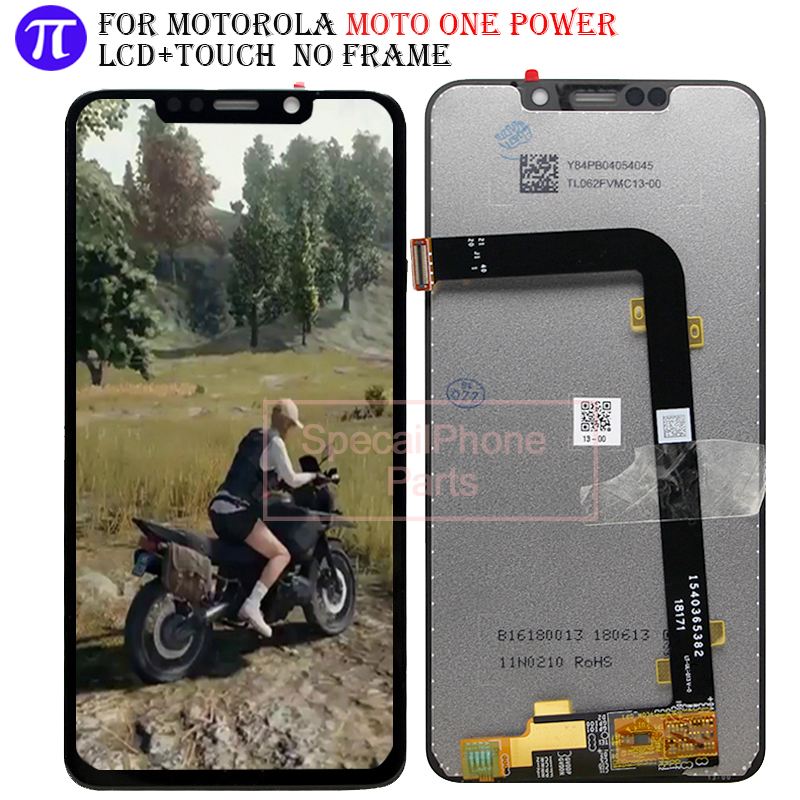 Pour Moto OnePower LCD affichage écran tactile numériseur écran en verre remplacement pour Motorola One Power (P3 note) affichage LCD