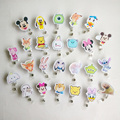 26pcs/lot Cartoon Retractable Pull Cartoon  Badge Reel ID Tag Card Badge Holder Clip 26 pattern for Children