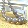 Beads 6-14mm natural gray agate necklace chain natural stones fine jewelry vintage accessories necklace women chain
