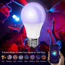 Wi-fi 2.4ghz 7W RGB 110v-220v smart ball bubble WIFI voice control new home bulb B22 lamp holder 10W