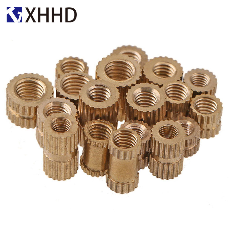 M3 Copper Inserts Double Pass Brass Knurl Nut Round Thread Nutsert Injection Molding Embedded Fastener ID*H*ODM3 Copper Inserts Double Pass Brass Knurl Nut Round Thread Nutsert Injection Molding Embedded Fastener ID*H*OD