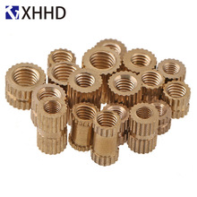 M3 Copper Inserts Double Pass Brass Knurl Nut Round Thread Nutsert Injection Molding Embedded Fastener ID*H*OD 100pcs m3 5 5mm od 5mm brass inserts double pass copper knurl nut embedded fastener