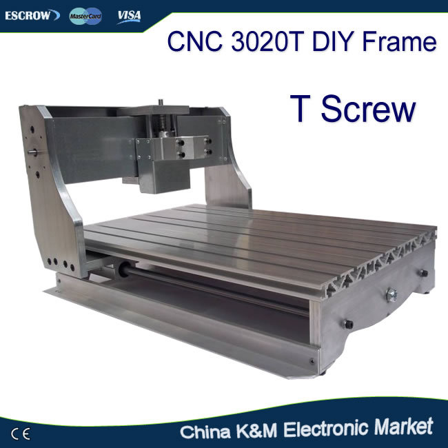 DIY CNC frame 3020T Trapezoidal screw for 3020 engraver T screw free tax to eu high quality cnc router frame 3020t with trapezoidal screw for cnc engraver machine