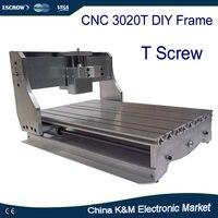 Free Ship DIY CNC Frame For Cnc 3020 Trapezoidal Screw Engraver