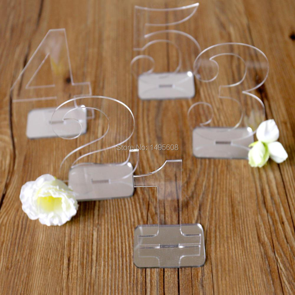 Wedding Decor Wedding Table Numbers Acrylic Table Number For Wedding Clear Acrylic Wedding Table Number Acrylic Table De