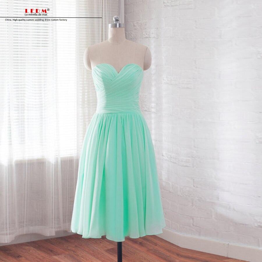 Robe demoiselle d'honneur pour femme new chiffon sexy sweetheart A Line mint green   bridesmaid   dresse short wedding party   dress