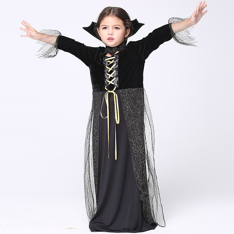 Halloween Cosplay Baby Clothing Little Witch Dress skirt Costumes 4pcs Children Set Long Sleeve Infant Girls Clothes For Party devil may cry 4 dante cosplay wig halloween party cosplay wigs free shipping