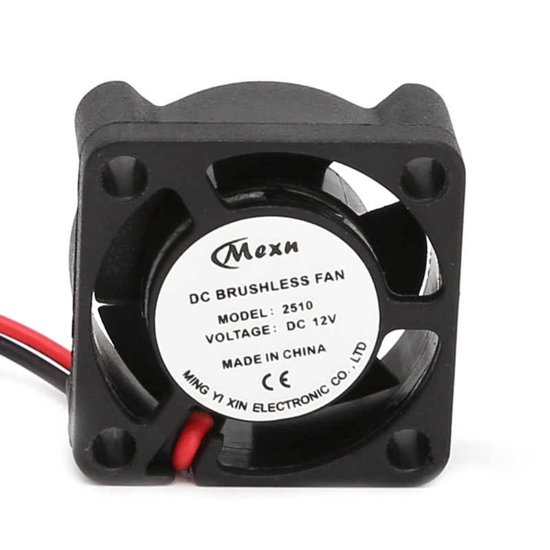 25*25*10mm 12V 2Pin DC Small 2-Wire Brushless Cooler  Cooling Fan For 3D Pinter Part High Quality free shipping for sunon gb1207ptv2 a 13 b4396 f gn dc 12v 2 2w 3 wire 3 pin connector 70mm 70x70x25mm server square cooling fan
