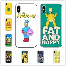 Homer J. simpson Hard PC Phone Case untuk Apple Iphone 5 5s Se 6 6 S 7 7 Plus X XR XS MAX 10 Fashion Kartun Cover Coque(China)